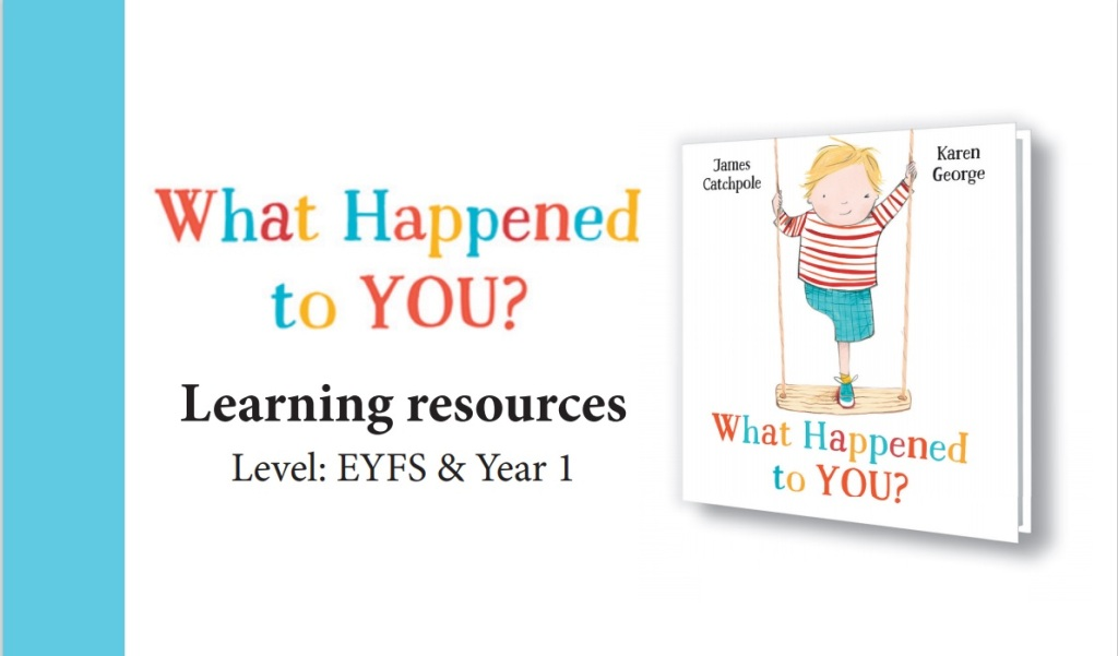 The title reads: What Happened to You? Learning resources Level: EYFS & Year 1